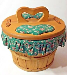 RARE Vintage Country Style Handmade Large Sewing Basket from 1 2 bushel basket $59.98