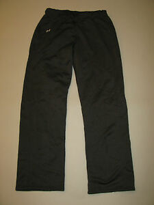 UNDER ARMOUR WOMENS TRACK PANT I BLACK SIZE LARGE FLEECE LINED