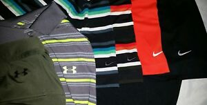 LOT of 6 NIKE GOLF & UNDER ARMOUR Polo Shirts Mens Medium Dri-Fit Loose Tiger M