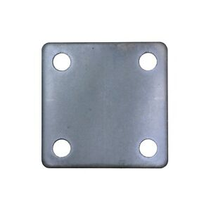 STEEL FLAT SQUARE METAL BASE PLATE 3 x 3 x 3 16 THICKNESS 3 8 HOLE QTY 4 $13.00