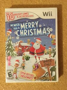 *NEW* We Wish You a Merry Christmas Nintendo Wii Brand New Complete NIB Box U
