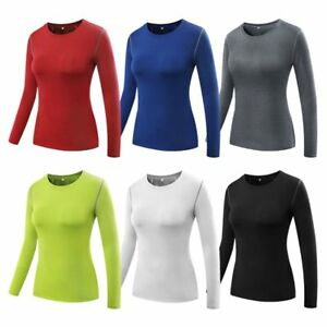 Women's Workout Running Yoga Long Sleeve Fitness Sport Tight Quick-dry T-Shirts