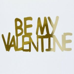 Word Be My Valentine Plastic Shapes Confetti Die Cut FREE SHIPPING
