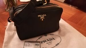 PRADA Cross Body Bag VITELLO PHENIX Nero 1BH079