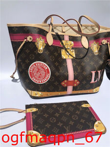 Auth **Sold Out** Louis Vuitton Summer Trunks Monogram Neverfull Bag New
