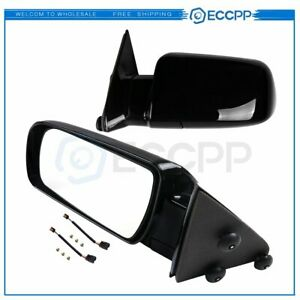 Pair Manual Fold For 1988 1998 GMC Chevy Pickup Truck Black Side View Mirrors $50.99
