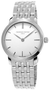 Frederique Constant Women's Quartz Silver-Tone Bracelet 29mm Watch FC-200S1S36B3