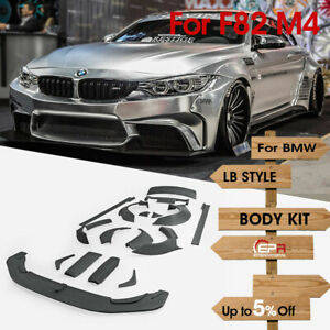 For BMW F82 M4 14-18 FRP LB Walk Style Full Body Kits Add on Coupe 2Door 3.0L
