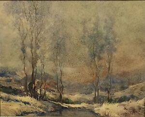 Antique Signed illegible Oil Painting on Artist Board Framed Under Glass $325.00