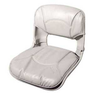 Tempress 45253 All-Weather Low-Back Gray Boat Seat Marine Seating