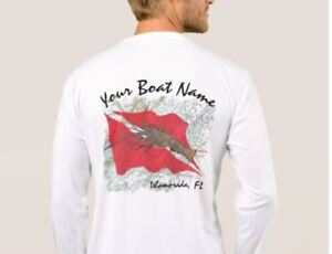 Custom Spiny Lobster Dive Shirt - Add your boat or team name to this design!