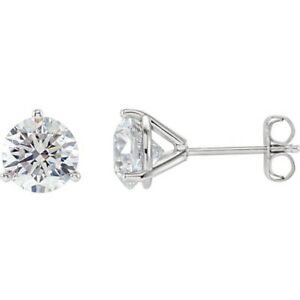 Martini Cocktail Diamond Stud Earrings G-H I1 Color 8 Sizes To Choose From!