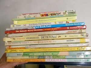 17 RICHARD SCARRY ANIMALS DO RAINY DAY STORY BOOK PEOPLE FIRST CARS GOOSE