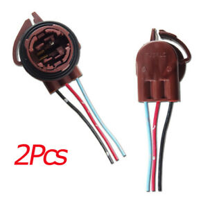 2pcs 3156 3157 Pre-Wired Harness Socket For LED Signal Brake Lights