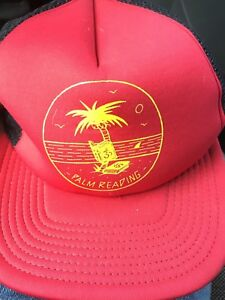 RARE New Era Palm Reading Snapback Trucker Dad Hat Cap Funny Beach Tree Tropical