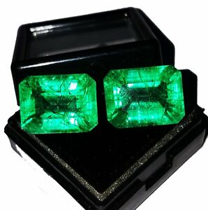 Loose Gemstone Natural Emerald 8 to 10 cts Certified Emerald Shape Pair Z139 $15.47