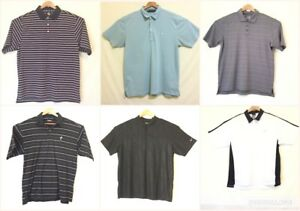 Mixed Lot of 6 Mens XL Golf Shirts SS Nike FootJoy Under Armour