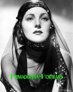 PAT PATERSON 8X10 Lab Photo 1930s Shimmering Veiled High Fashion Movie Still