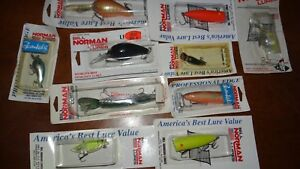 10 VINTAGE BILL NORMAN ASSORTED LURE OLD FISHING LURES BASS BAIT CRANKBAIT WOW