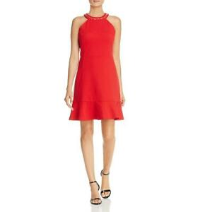 MICHAEL Michael Kors Womens Halter Knee-Length Party Cocktail Dress BHFO 3411