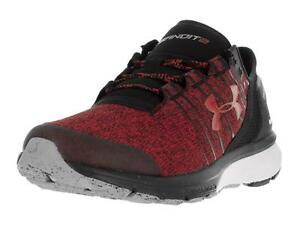 Under Armour Men`s Charged Bandit 2 Running Shoes 10.5 RED BLACK