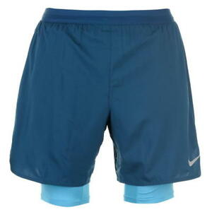 Nike 2in1 Flex Running Shorts Mens SIZE L REF C894