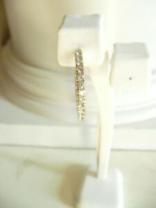 Good Quality Unisex Single 14K Gold Inside Out Diamond Hoop Earring