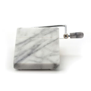 RSVP 8quot; x 5quot; White Marble Cheese Slicer Board $16.95