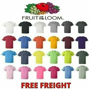 Fruit of the Loom Mens T Shirts HD 100% Cotton Short Sleeve Tee S 6XL 3930 $9.99