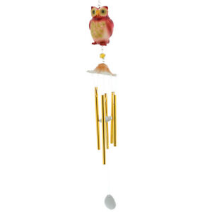 NEW Red Owl Resin amp; Metal Wind Chime Windchime $19.99