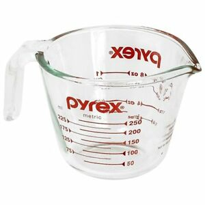 Pyrex Prepware 1 Cup Measuring Cup Clear with Red Measurements $11.12