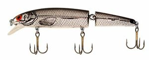 Bomber Jointed Long A Fishing Lures Chrome Black Back New