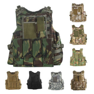 UltraGuards Tactical Air soft Paintball MOLLE Plate Carrier Combat Play Vest $29.98