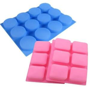 12 Round & 6 Square Soap Molds Handmade Making for soap Bar chocolate cake...