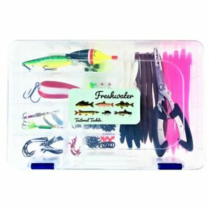 Fishing Kit 118 pc. Tackle Box Lures Crankbait Pliers Hooks Spinners Bass Trout