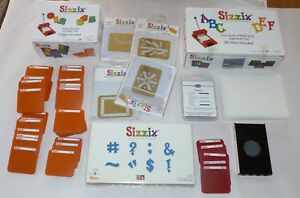 Large Lot Of Sizzix Die Cutters Shapes Sets Letters Numbers Shadow Box Set.