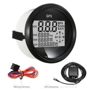 70mm Waterproof GPS Digital Speedometer Odometer Gauge Fits For Car Truck Marine