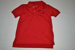 RALPH LAUREN SPORT DRY FIT RED POLO SHIRT TODDLER BOYS SIZE 3T 3