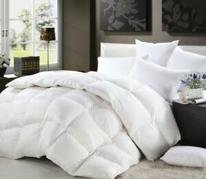Royal Luxe Goose Down 100% Cotton 1500TC damask stripes and lofty Comforter