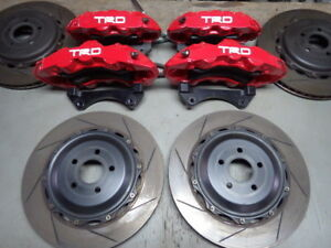 USED TRD OEM FRONT & REAR BREMBO BRAKE CALIPERS ROTORS PADS FOR TOYOTA 86 FR-S