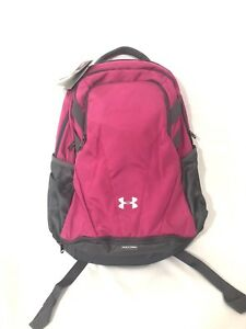 Under Armour UA Team Hustle Storm Backpack Pink Graphite NWT