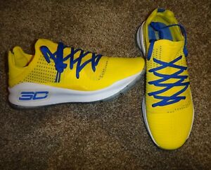 NEW MENS 12.5 UNDER ARMOUR CURRY 4 LOW WARRIORS MEDIA DAY PE SC30 SAMPLE RARE