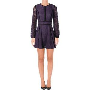 Juicy Couture Black Label Womens Leafy Lace Mini Party Cocktail Dress BHFO 1122