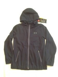 Girls Youth Under Armour Storm Full Zip JacketHoodie Black Med NWT