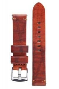 Signature Bizon Calfskin Watch Band Bison Embossed Leather Strap Bracelet