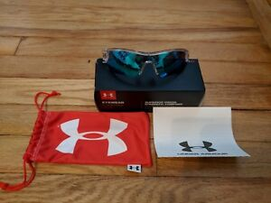 Under Armour Sunglasses Menace Crystal Clear Frosted gray blue lens Youth size