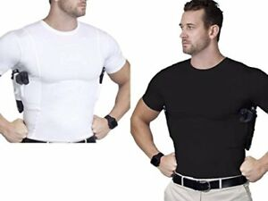 AC UNDERCOVER Concealed Carry Crew Neck TShirt Black  White Ref. 511 (2-PacK)