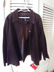 Lane Bryant 100% Leather Jacket women's plus Size 2224