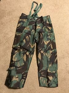 Vintage Military Army Trousers Protective 1984 1985 Medium Camo Camouflage Pants