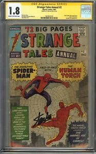 Strange Tales Annual #2 CGC 1.8 GD- SIGNED STAN LEE EARLY SPIDER-MAN 1st SERIES
